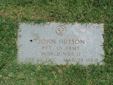 HUTSON (VETERAN WWII), JOHN - Pulaski County, Arkansas | JOHN HUTSON (VETERAN WWII) - Arkansas Gravestone Photos