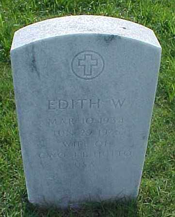 HUTTO, EDITH W - Pulaski County, Arkansas | EDITH W HUTTO - Arkansas Gravestone Photos