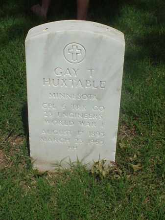 HUXTABLE (VETERAN WWI), GAY T - Pulaski County, Arkansas | GAY T HUXTABLE (VETERAN WWI) - Arkansas Gravestone Photos
