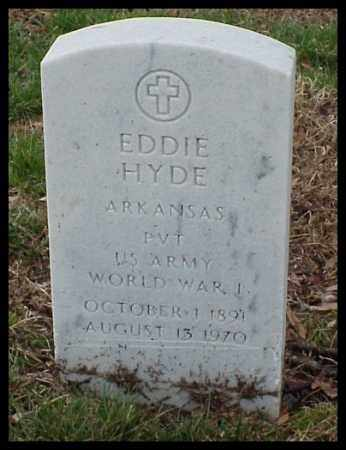 HYDE (VETERAN WWI), EDDIE - Pulaski County, Arkansas | EDDIE HYDE (VETERAN WWI) - Arkansas Gravestone Photos