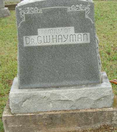 HYMAN, G. W. - Pulaski County, Arkansas | G. W. HYMAN - Arkansas Gravestone Photos