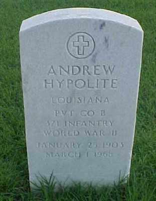 HYPOLITE (VETERAN WWII), ANDREW - Pulaski County, Arkansas | ANDREW HYPOLITE (VETERAN WWII) - Arkansas Gravestone Photos