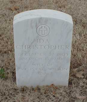 CHRISTOPHER WILSON, IDA - Pulaski County, Arkansas | IDA CHRISTOPHER WILSON - Arkansas Gravestone Photos