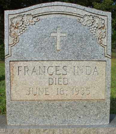 INDA, FRANCES - Pulaski County, Arkansas | FRANCES INDA - Arkansas Gravestone Photos