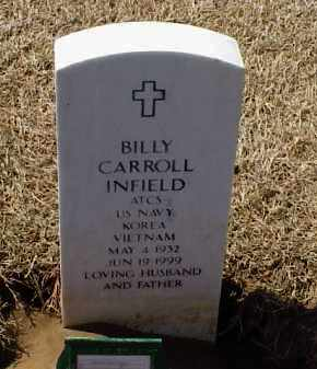 INFIELD (VETERAN 2 WARS), BILLY CAROL - Pulaski County, Arkansas | BILLY CAROL INFIELD (VETERAN 2 WARS) - Arkansas Gravestone Photos
