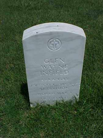 INFIELD (VETERAN WWI), GLEN WAYNE - Pulaski County, Arkansas | GLEN WAYNE INFIELD (VETERAN WWI) - Arkansas Gravestone Photos