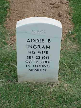 INGRAM, ADDIE B - Pulaski County, Arkansas | ADDIE B INGRAM - Arkansas Gravestone Photos