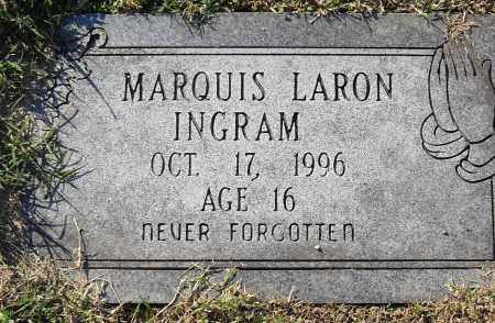 INGRAM, MARQUIS LARON - Pulaski County, Arkansas | MARQUIS LARON INGRAM - Arkansas Gravestone Photos
