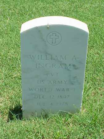 INGRAM (VETERAN WWI), WILLIAM A - Pulaski County, Arkansas | WILLIAM A INGRAM (VETERAN WWI) - Arkansas Gravestone Photos