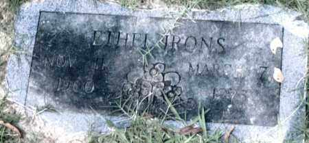 IRONS, ETHEL - Pulaski County, Arkansas | ETHEL IRONS - Arkansas Gravestone Photos