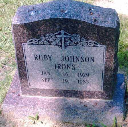JOHNSON IRONS, RUBY - Pulaski County, Arkansas | RUBY JOHNSON IRONS - Arkansas Gravestone Photos