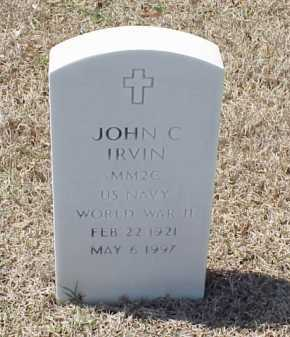 IRVIN (VETERAN WWII), JOHN C - Pulaski County, Arkansas | JOHN C IRVIN (VETERAN WWII) - Arkansas Gravestone Photos