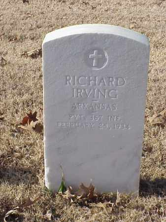 IRVING  (VETERAN WWI), RICHARD - Pulaski County, Arkansas | RICHARD IRVING  (VETERAN WWI) - Arkansas Gravestone Photos
