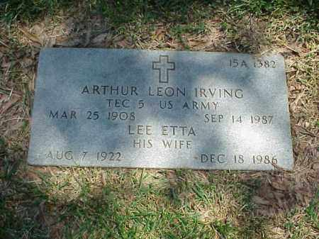 IRVING, LEE ETTA - Pulaski County, Arkansas | LEE ETTA IRVING - Arkansas Gravestone Photos