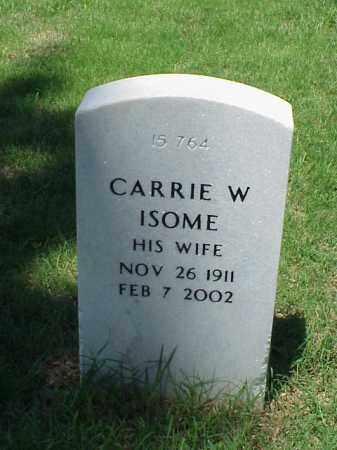 ISOME, CARRIE W - Pulaski County, Arkansas | CARRIE W ISOME - Arkansas Gravestone Photos