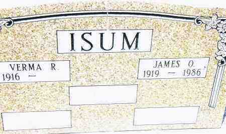 ISUM, JAMES O. - Pulaski County, Arkansas | JAMES O. ISUM - Arkansas Gravestone Photos