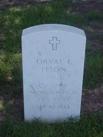 ITSON (VETERAN WWII), ORVAL L - Pulaski County, Arkansas | ORVAL L ITSON (VETERAN WWII) - Arkansas Gravestone Photos