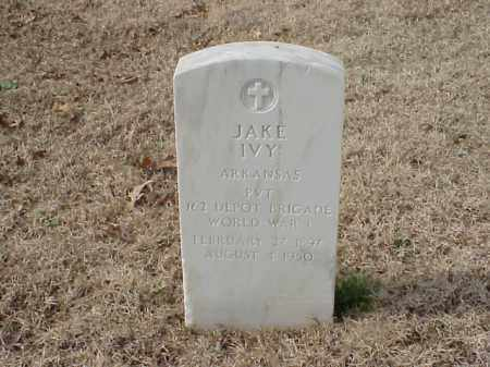 IVY  (VETERAN WWI), JAKE - Pulaski County, Arkansas | JAKE IVY  (VETERAN WWI) - Arkansas Gravestone Photos