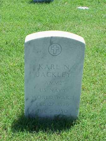 JACKLEY (VETERAN WWI), KARL N - Pulaski County, Arkansas | KARL N JACKLEY (VETERAN WWI) - Arkansas Gravestone Photos