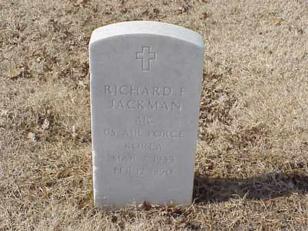 JACKMAN (VETERAN KOR), RICHARD F - Pulaski County, Arkansas | RICHARD F JACKMAN (VETERAN KOR) - Arkansas Gravestone Photos
