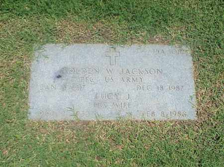 JACKSON (VETERAN WWII), GOLDEN W - Pulaski County, Arkansas | GOLDEN W JACKSON (VETERAN WWII) - Arkansas Gravestone Photos