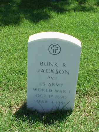 JACKSON (VETERAN WWI), BUNK R - Pulaski County, Arkansas | BUNK R JACKSON (VETERAN WWI) - Arkansas Gravestone Photos