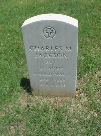JACKSON (VETERAN WWI), CHARLES M - Pulaski County, Arkansas | CHARLES M JACKSON (VETERAN WWI) - Arkansas Gravestone Photos