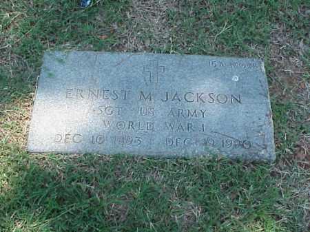 JACKSON (VETERAN WWI), ERNEST M - Pulaski County, Arkansas | ERNEST M JACKSON (VETERAN WWI) - Arkansas Gravestone Photos
