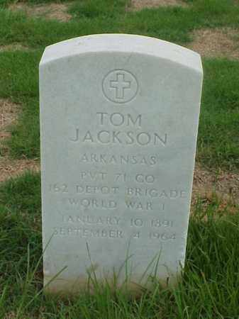 JACKSON (VETERAN WWI), TOM - Pulaski County, Arkansas | TOM JACKSON (VETERAN WWI) - Arkansas Gravestone Photos