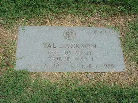 JACKSON (VETERAN WWI), TAL - Pulaski County, Arkansas | TAL JACKSON (VETERAN WWI) - Arkansas Gravestone Photos