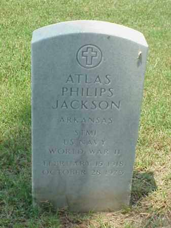 JACKSON (VETERAN WWII), ATLAS PHILIPS - Pulaski County, Arkansas | ATLAS PHILIPS JACKSON (VETERAN WWII) - Arkansas Gravestone Photos