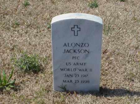 JACKSON (VETERAN WWII), ALONZO - Pulaski County, Arkansas | ALONZO JACKSON (VETERAN WWII) - Arkansas Gravestone Photos