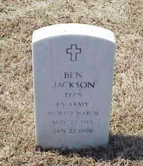 JACKSON (VETERAN WWII), BEN - Pulaski County, Arkansas | BEN JACKSON (VETERAN WWII) - Arkansas Gravestone Photos