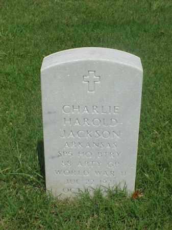 JACKSON (VETERAN WWII), CHARLIE HAROLD - Pulaski County, Arkansas | CHARLIE HAROLD JACKSON (VETERAN WWII) - Arkansas Gravestone Photos