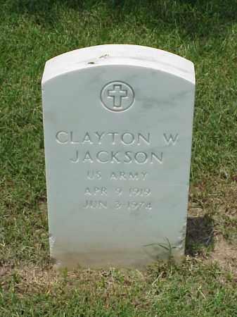 JACKSON (VETERAN WWII), CLAYTON W - Pulaski County, Arkansas | CLAYTON W JACKSON (VETERAN WWII) - Arkansas Gravestone Photos