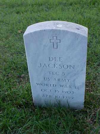 JACKSON (VETERAN WWII), DEE - Pulaski County, Arkansas | DEE JACKSON (VETERAN WWII) - Arkansas Gravestone Photos