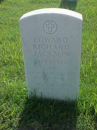 JACKSON (VETERAN WWII), EDWARD RICHARD - Pulaski County, Arkansas | EDWARD RICHARD JACKSON (VETERAN WWII) - Arkansas Gravestone Photos