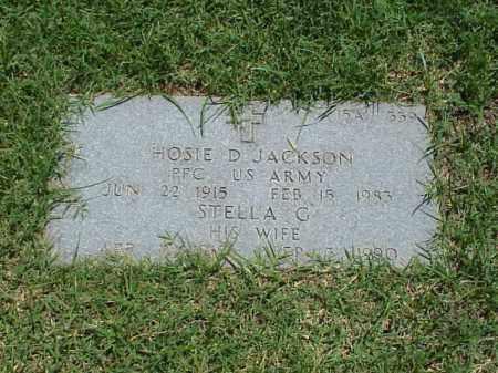 JACKSON (VETERAN WWII), HOSIE D - Pulaski County, Arkansas | HOSIE D JACKSON (VETERAN WWII) - Arkansas Gravestone Photos