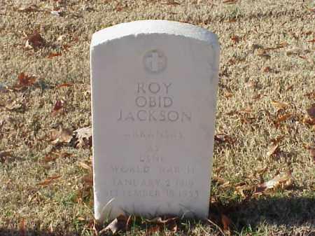 JACKSON (VETERAN WWII), ROY OBID - Pulaski County, Arkansas | ROY OBID JACKSON (VETERAN WWII) - Arkansas Gravestone Photos