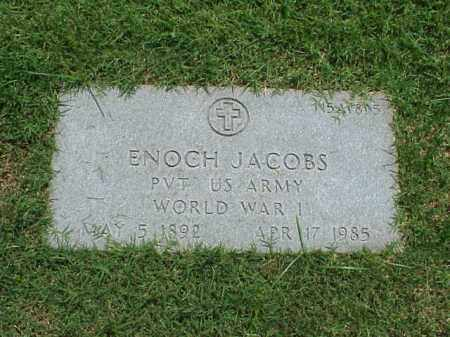 JACOBS (VETERAN WWI), ENOCH - Pulaski County, Arkansas | ENOCH JACOBS (VETERAN WWI) - Arkansas Gravestone Photos