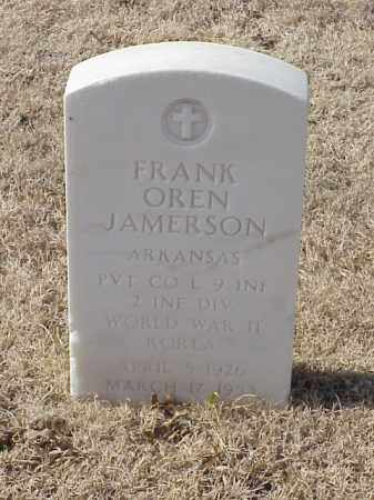 JAMERSON (VETERAN 2 WARS), FRANK OREN - Pulaski County, Arkansas | FRANK OREN JAMERSON (VETERAN 2 WARS) - Arkansas Gravestone Photos