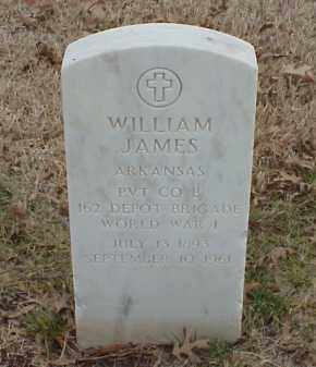 JAMES  (VETERAN WWI), WILLIAM - Pulaski County, Arkansas | WILLIAM JAMES  (VETERAN WWI) - Arkansas Gravestone Photos