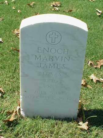 JAMES (VETERAN), ENOCH MARVIN - Pulaski County, Arkansas | ENOCH MARVIN JAMES (VETERAN) - Arkansas Gravestone Photos