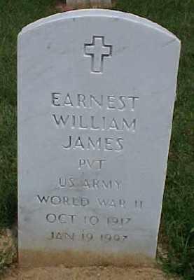 JAMES (VETERAN WWII), EARNEST WILLIAM - Pulaski County, Arkansas | EARNEST WILLIAM JAMES (VETERAN WWII) - Arkansas Gravestone Photos