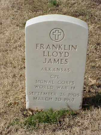 JAMES (VETERAN WWII), FRANKLIN LLOYD - Pulaski County, Arkansas | FRANKLIN LLOYD JAMES (VETERAN WWII) - Arkansas Gravestone Photos