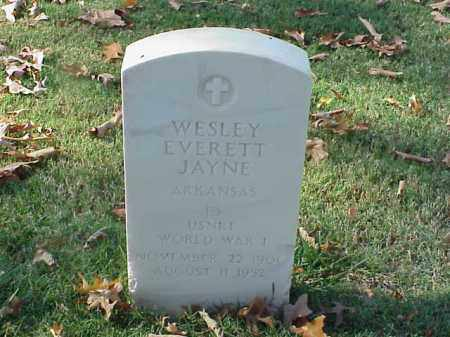 JAYNE (VETERAN WWI), WESLEY EVERETT - Pulaski County, Arkansas | WESLEY EVERETT JAYNE (VETERAN WWI) - Arkansas Gravestone Photos