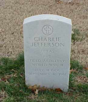 JEFFERSON  (VETERAN WWII), CHARLIE - Pulaski County, Arkansas | CHARLIE JEFFERSON  (VETERAN WWII) - Arkansas Gravestone Photos