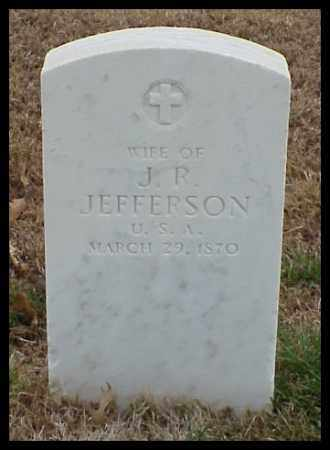 JEFFERSON, WIFE - Pulaski County, Arkansas | WIFE JEFFERSON - Arkansas Gravestone Photos