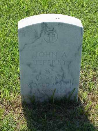 JEFFREY (VETERAN WWII), JOHN A - Pulaski County, Arkansas | JOHN A JEFFREY (VETERAN WWII) - Arkansas Gravestone Photos