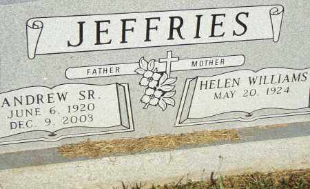 JEFFRIES, SR., ANDREW - Pulaski County, Arkansas | ANDREW JEFFRIES, SR. - Arkansas Gravestone Photos